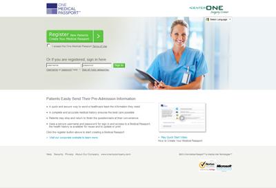 Registration step 1 medical passport